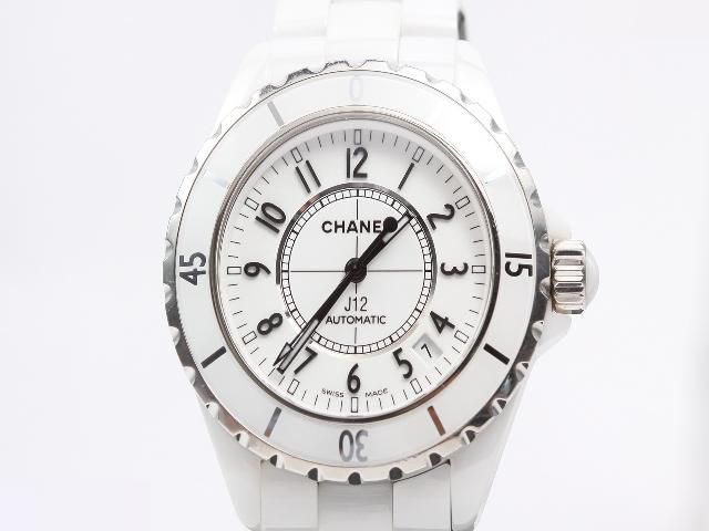online store ab2d5 c8beb CHANEL シャネル J12 セラミック メンズ自動巻き腕時計 ホワイト ...