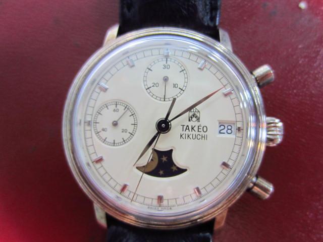 buy popular fd5b0 70253 タケオ キクチ(TAKEO KIKUCHI)腕時計 ムーンフェイズ 手巻き ...